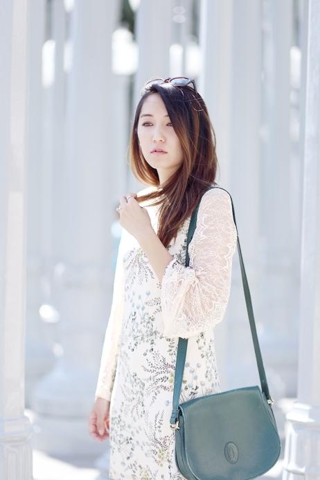 Maggie Chan (@clothestomidnight) in the Flowerbed Dress