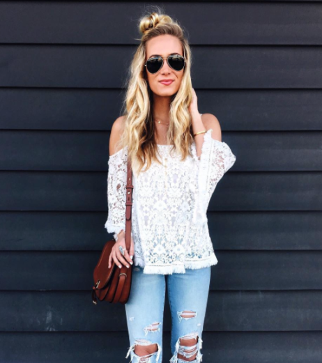 Marissa (@stylecusp) in the Lace Tusk Top