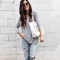 Aylin (@stylinbyaylin) in the Striped Sarah Top