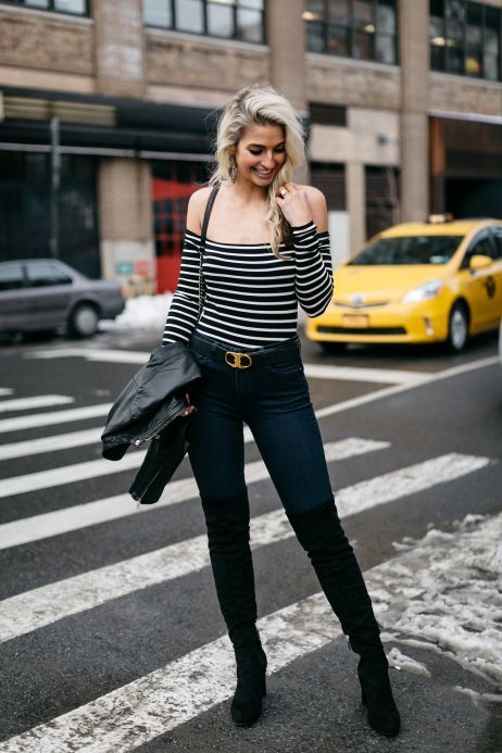 Vanessa (@thecheekybeen) in the Striped Jacqueline Top